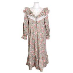 NEMO [쿠비카]V넥 레이스 이중프릴 원피스 여성잠옷 W697