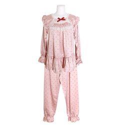 NEMO [쿠비카]도트 소매밴딩 투피스 여성잠옷 W695