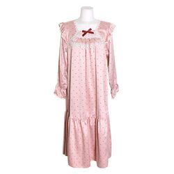 NEMO [쿠비카]도트 줄기 레이스 원피스 여성잠옷 W694