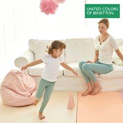 베네통 항균 층간소음 핑크 유아 폴더매트 200x140