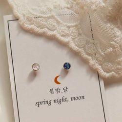 봄밤달 작은 별의 조각 피어싱 (귀걸이침 변경가능)
