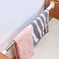 못없이 간편설치 스텐 압축봉 욕실 샤워커튼봉(70x120