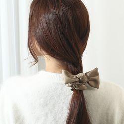 인조가죽 리본 곱창 슈슈 머리끈 (21H015)