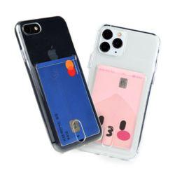 아이폰 7+/8+ 카드수납 투명 젤리 케이스