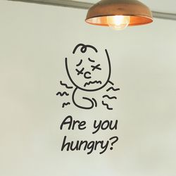 are you hungry 귀여운 인테리어 스티커 large