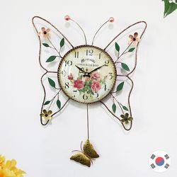 꽃나비 동공예품 추벽시계 SBC-303