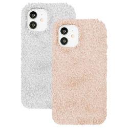 아이폰12프로 뽀글이 심플 컬러 젤리 케이스 P571