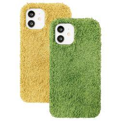 아이폰12프로맥스 뽀글이 심플 컬러 젤리 케이스 P571