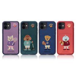 [예약판매 2/1 순차배송] 아이폰11 자수 포켓 디킨 프렌즈 케이스