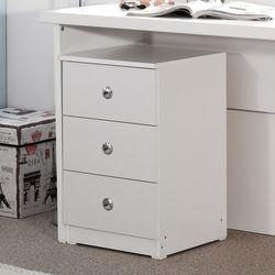 클래식입식서랍 3단 협탁 책상서랍 다용도 수납장