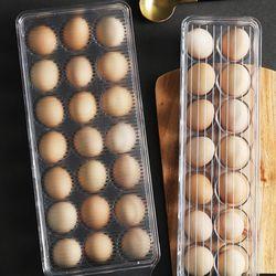 냉장고 계란 안전 보관 수납 투명 트레이 21구