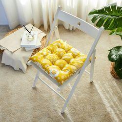 WOW 편안한 보니타 식탁의자방석 옐로우