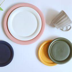 위즈라인 원형 디저트 접시 (7Color)
