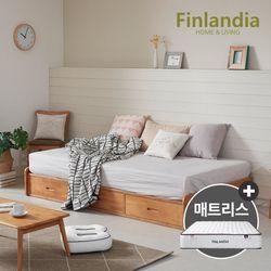 핀란디아 댄디 베이직 슈퍼싱글침대SS(서랍형)+드림온21매트리스