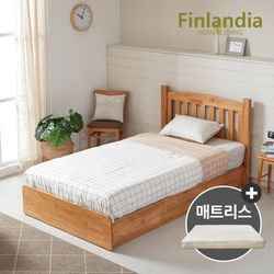 핀란디아 댄디 슈퍼싱글침대SS(서랍형)+코튼매트리스