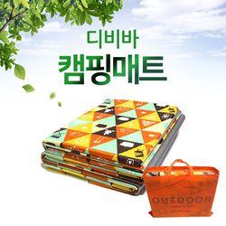 디비바 캠핑매트 특수코팅 캠퍼 오렌지 중형 200x150cm