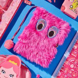 Fluffy 인형 털노트 (핑크눈)