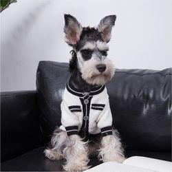 강아지옷 고양이아우터 명품 스타일 가디건 니트