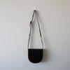 스티치 포인트 하드 하프문 플랩 크로스백 (2color)