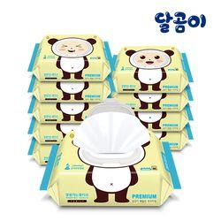 달곰이 패밀리 프리미엄 엠보싱 캡형 (80매) 10팩