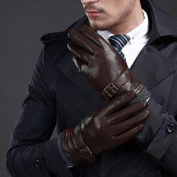 동계용 털안감 방한 남성 가죽장갑(Genuin Leather)