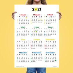 [1+1] 대왕 365 날짜 공부 달력 2021년 캘린더
