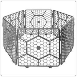 애견 푸르미 대형 매직울타리 도어형 6p (다크그레이)