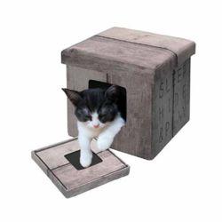 유로펫 디앤디 스툴겸용 고양이 하우스(브라운슬립)