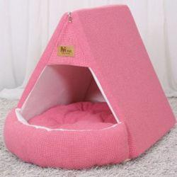 강아지 하우스 텐트 개집 쿠션 애견 방석 매트 핑크