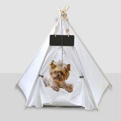 이름표 샹들리 애완동물 텐트