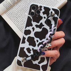아이폰 젖소 무늬 스트랩 케이스 얼룩 무늬 milk cow