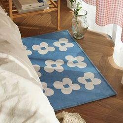 블루 플라워 극세사 사계절 러너 매트세트- 1color
