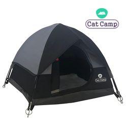 캣캠프 캣텐트 블랙-고양이하우스 강아지집