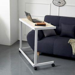보리아 레드파인 이동식 소파 테이블 640