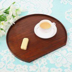 내추럴 반원 우드트레이(36x32cm) (커피)