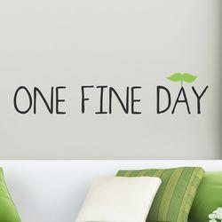 One fine day 감성 레터링 스티커 small