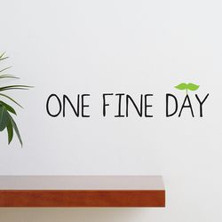 One fine day 감성 레터링 스티커 large