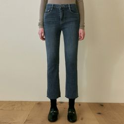 STRAIGHT FIT WASH JEANS [DENIM]