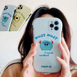 아이폰12 pro max/미니 몬스터 자수 카메라보호케이스