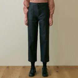 LEATHER BAKER PANTS [BLACK]