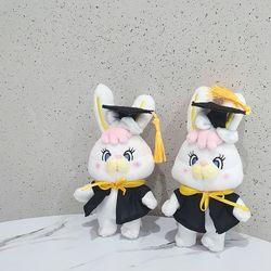학사모리코 가방고리 봉제인형 졸업식선물