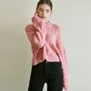 TWISTED CROP R KNIT [PINK]
