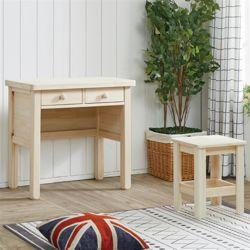 헤스티아 편백 나무 미니 화장대 의자 포함