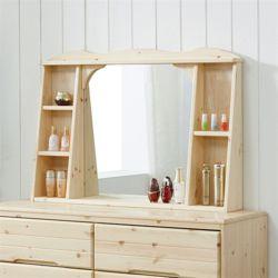 헤스티아 레드파인 화장대 와이드수납거울