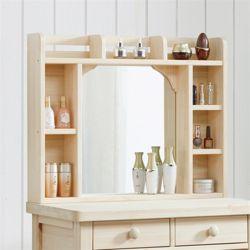 헤스티아 편백 나무 화장대 수납 거울