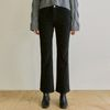 CORDUROY SEMI BOOTCUT PANTS [BLACK]