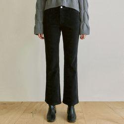 CORDUROY SEMI BOOTCUT PANTS [BLACK]