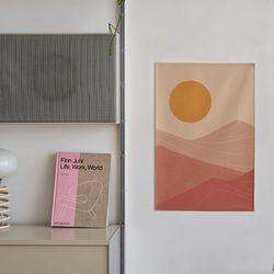 모래사막 일러스트 패브릭 포스터 . 가리개 커튼 (포스터M)