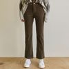 CORDUROY SEMI BOOTCUT PANTS [BROWN]