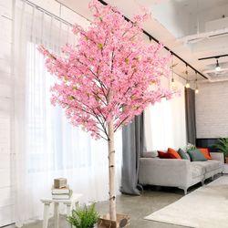 인조나무 인테리어 조화 라일락나무 190cm 핑크